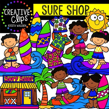 Surf Shop: Summer Clipart {Creative Clips Clipart}