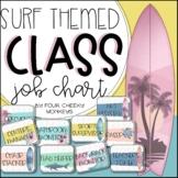 Surf / Surfing Ocean Theme Classroom Jobs Editable