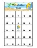 Surf Theme Multiplication Bingo