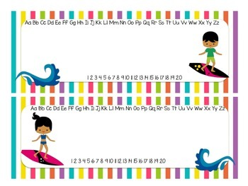 Surf Theme Name Plates