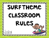 Surf Themed Classroom Rules Posters