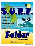 Surf-Themed Folder