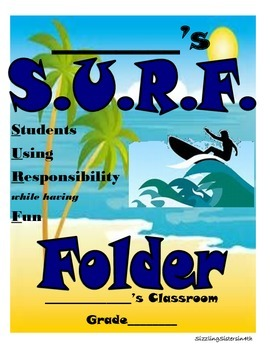 Surf-Themed Folder