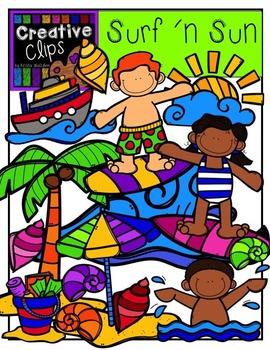 Surf and Sun {Creative Clips Digital Clipart}