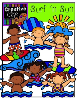 Surf and Sun {Creative Clips Digital Clipart}