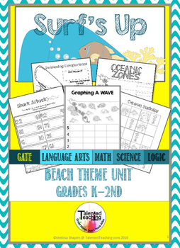 Summer Beach Mini Unit- ELA, Math, Science and Writing printables