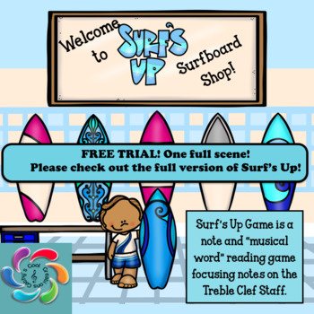 Surf's Up! An Interactive Note Reading Game-Trial Version FREE!!