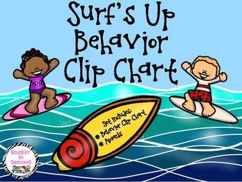 Surf's Up Behavior Clip Chart