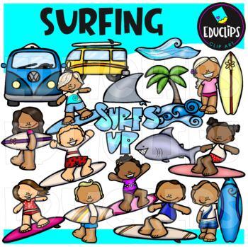 Surf's Up Clip Art Bundle {Educlips Clipart}