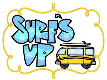 Surf's Up Clip Chart: Surfing Beach Themed Behavior Chart