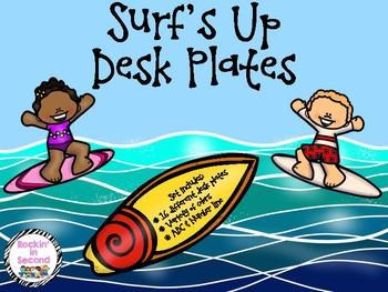 Surf's Up Desk Plates