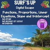 Surf's Up Escape Functions Proportions Linear Relationship