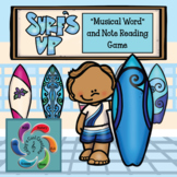 Interactive Music Game (Note Reading) Surf's Up! Google Slides distance learning