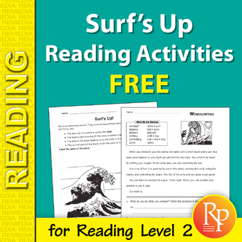 Surf's Up: Reading & Vocabulary {Freebie}