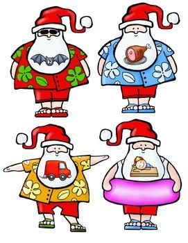 Surf's Up, Santa!  A CVC/CVCC Matching Game
