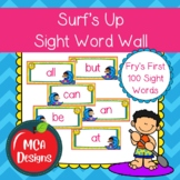 Surf's Up - Sight Word Wall Fry's First 100 Words