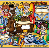 Surf's Up, Surfing Buddies - Summer Clipart