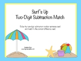Surf's Up Two-Digit Subtraction Match (without regrouping)
