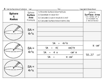 Surface Area 01: Surface Area Spheres & Changing Radius Affects Surf Area + QUIZ