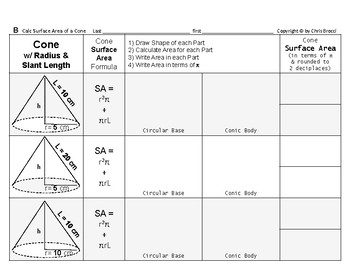 Surface Area 03: Surface Area of Cones + Changing Radius/Slant Length Affects SA