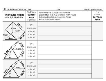 Surface Area 07: Surface Area of Triangular Prisms + Dimension Affects Surf Area