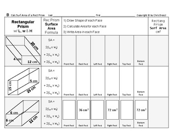 Surface Area 09: Surface Area of Rectangular Prisms + How Dimension Affects S.A.