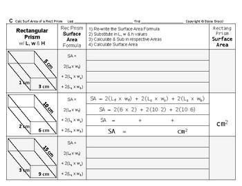 Surface Area 09: Surface Area Rectangular Prisms & Dimensions' Effect + QUIZ