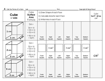 Surface Area 11: Surface Area of Cubes + How Changing Side Affects Surf Area