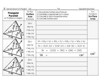 Surface Area 13: Surface Area of Triangular Pyramids + How Base/Height Affect SA