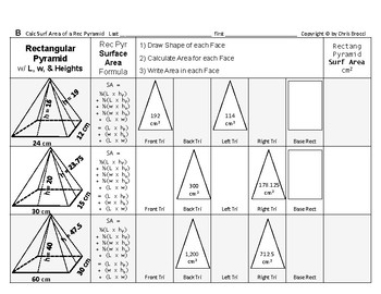 Surface Area 14: Surface Area of Rectangular Pyramids + How Dimension Affects SA