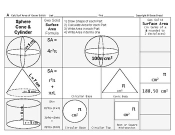 Surface Area 17: Surface Area of Common Geometric Solids