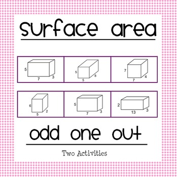 Surface Area Odd One Out!