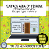 Surface Area 3D Figures Mystery Escape Storyline for use w