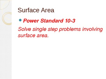 Surface Area Activity