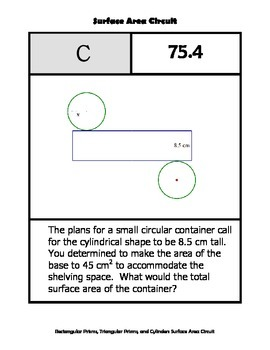 Surface Area Circuit