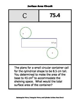 Surface Area Circuit