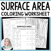 Surface Area Coloring Worksheet