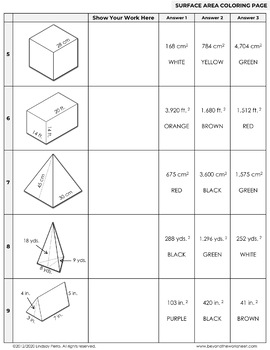 Surface Area From Nets Worksheet Worksheets for all | Download and ...