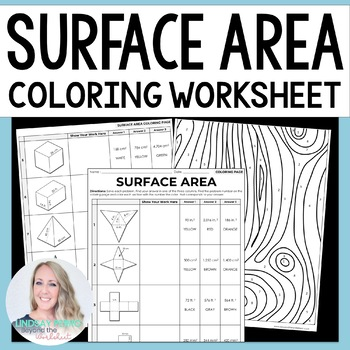 Surface Area Coloring Worksheet by Lindsay Perro | TpT