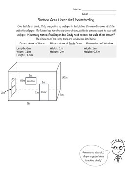 Surface Area Critical Thinking Question