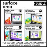 Surface Area Digital Math Activity Bundle | 7th Grade Math