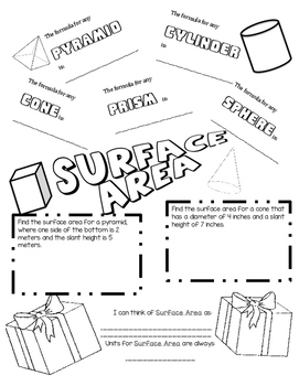 Surface Area Doodle Notes