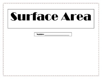 Surface Area FOLDABLE