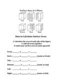 Surface Area Figures & Calculation Template