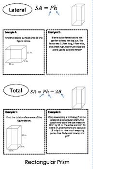Surface Area Flip Book