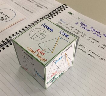 Surface Area 3-D Foldable