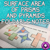 Surface Area Foldable Notes (Prisms and Pyramids)