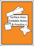 Surface Area Foldable Notes and Practice (Distance Learning)