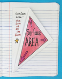 Surface Area Foldable by Math Doodles