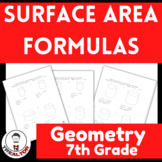 Surface Area Formulas  Surface Area Worksheet  How do you find the surface area?